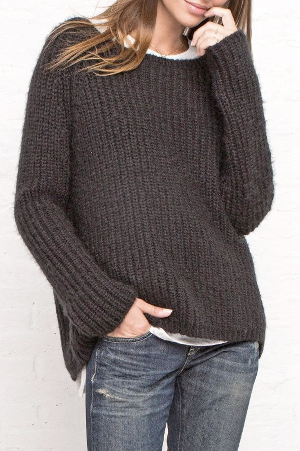 Wooden Ships Chunky Ribbed Crew - Front Full Image