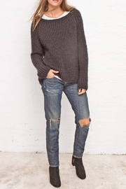 Wooden Ships Chunky Ribbed Crew - Front cropped