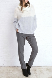 Wooden Ships Colorblock Cowel Sweater - Front cropped