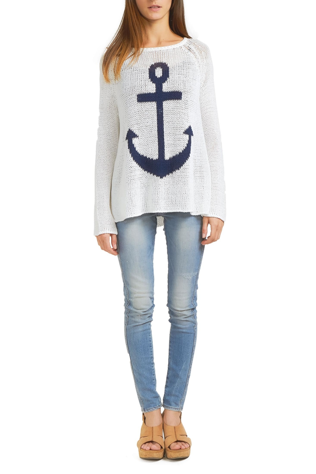 Wooden Ships Nautical Sweater Top - Main Image
