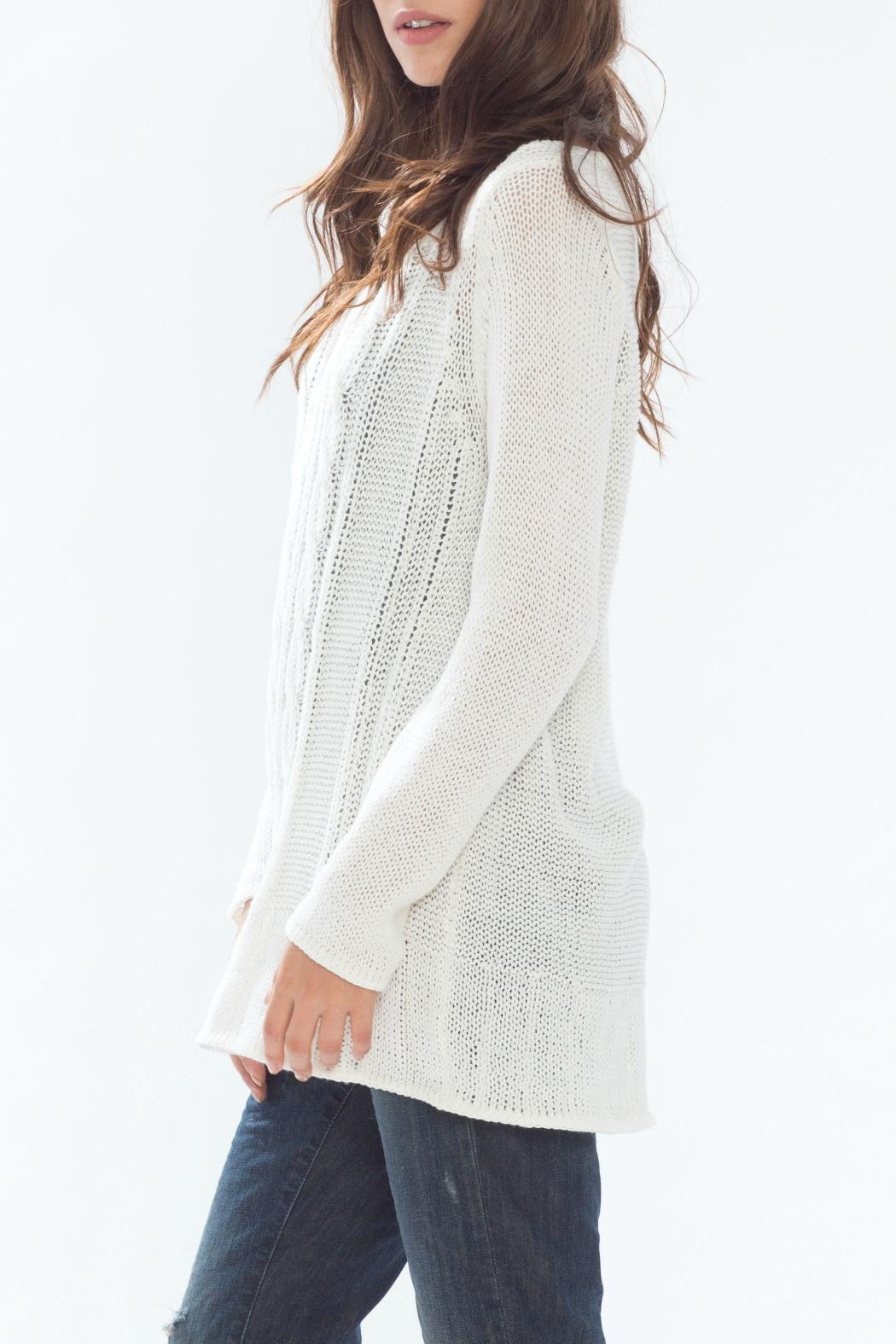 Wooden Ships Cotton Cable-Knit Tunic from New Jersey by Ocean ...