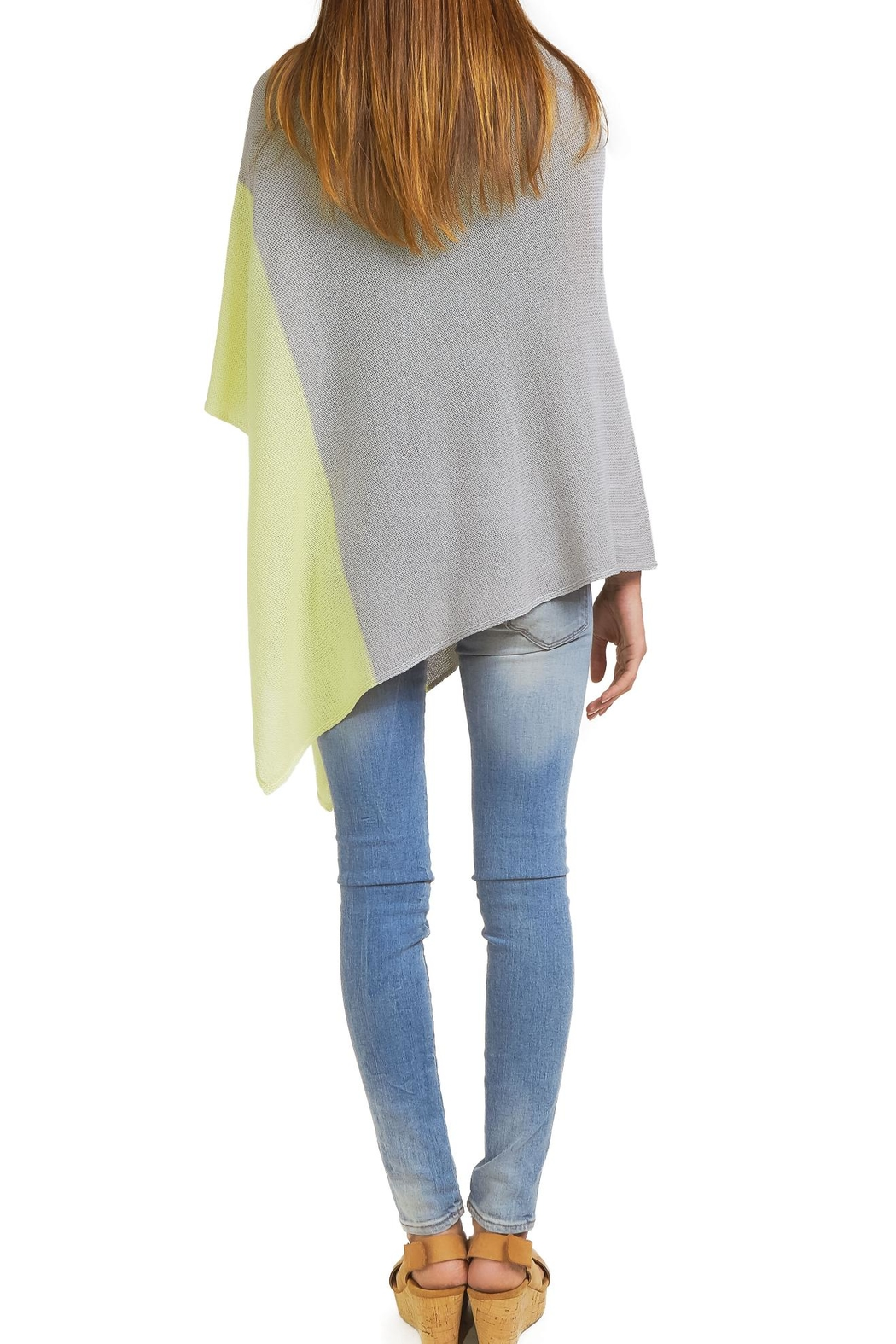 Wooden Ships Cotton Color Block Poncho - Side Cropped Image