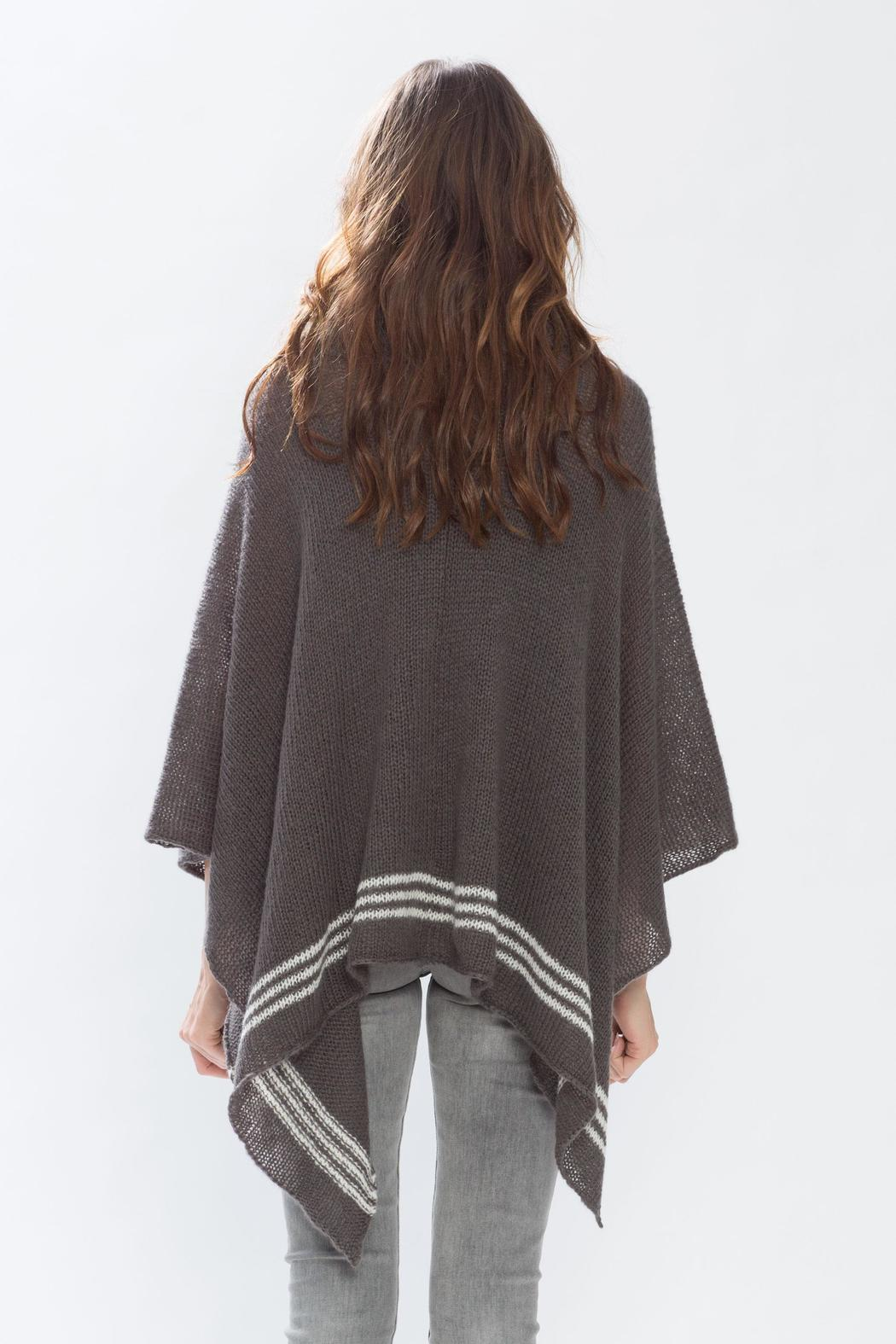 Wooden Ships Cowl Neck Poncho - Side Cropped Image