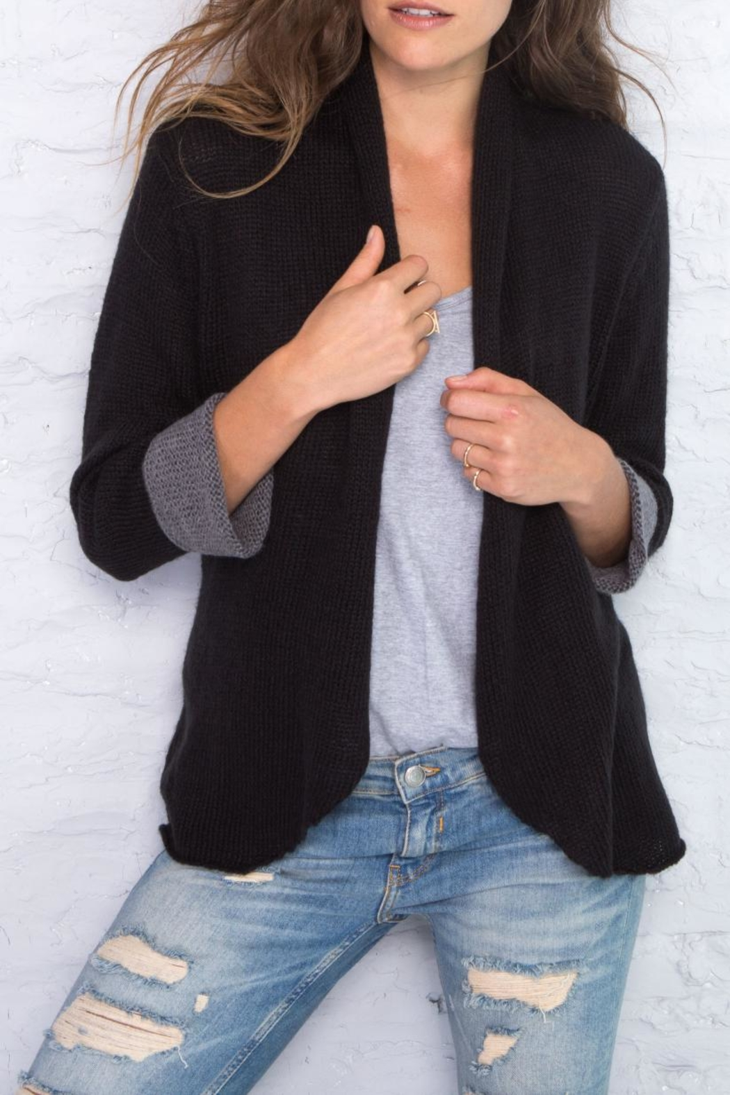 Wooden Ships Cuffed Cardigan - Front Cropped Image