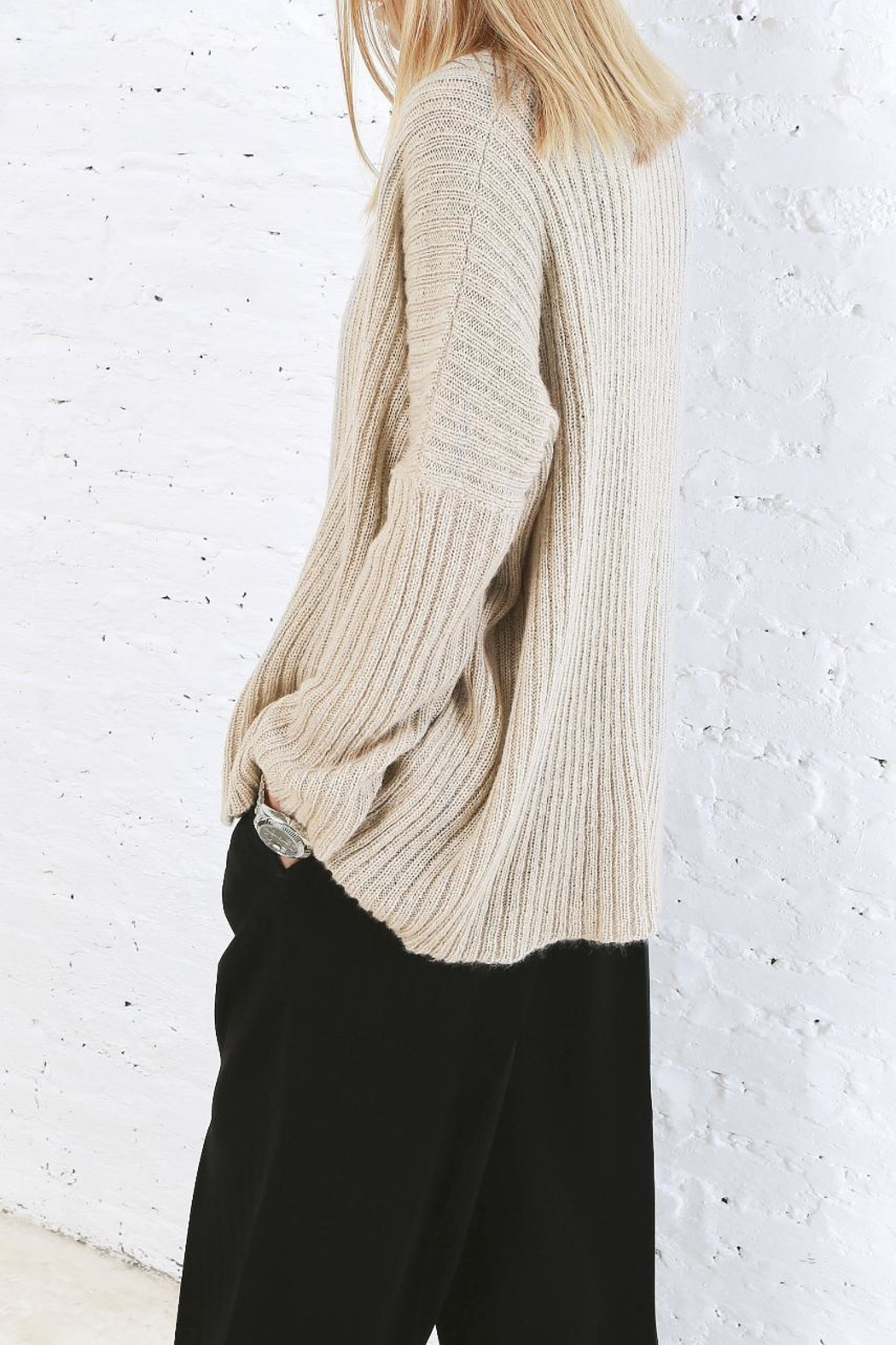 Wooden Ships Dana Ribbed Cardigan - Back Cropped Image