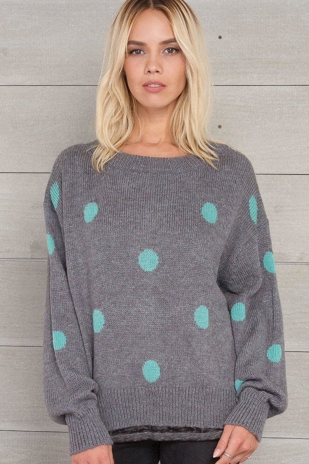 Wooden Ships Dot Crewneck Sweater - Front Cropped Image