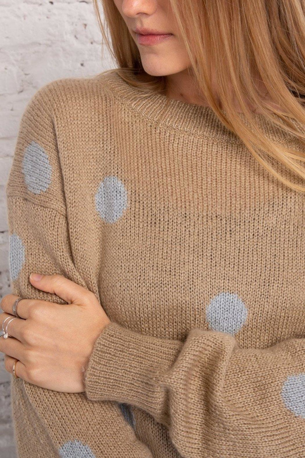 Wooden Ships Dot Crewneck Sweater - Side Cropped Image