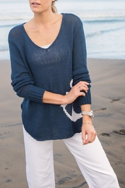 Wooden Ships Drop Anchor V-Neck - Product Mini Image