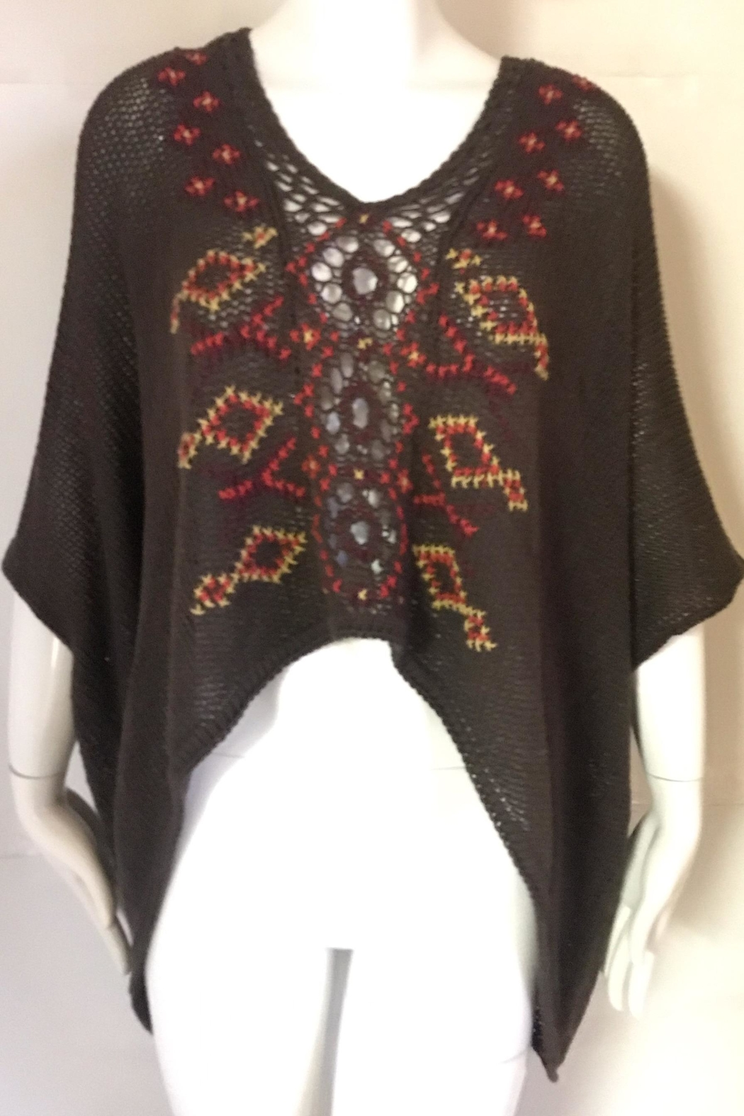 Wooden Ships Embroidered Multi-Knit Sweater - Main Image