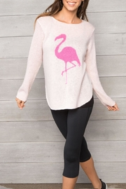Wooden Ships Flamingo Crew Sweater - Front cropped