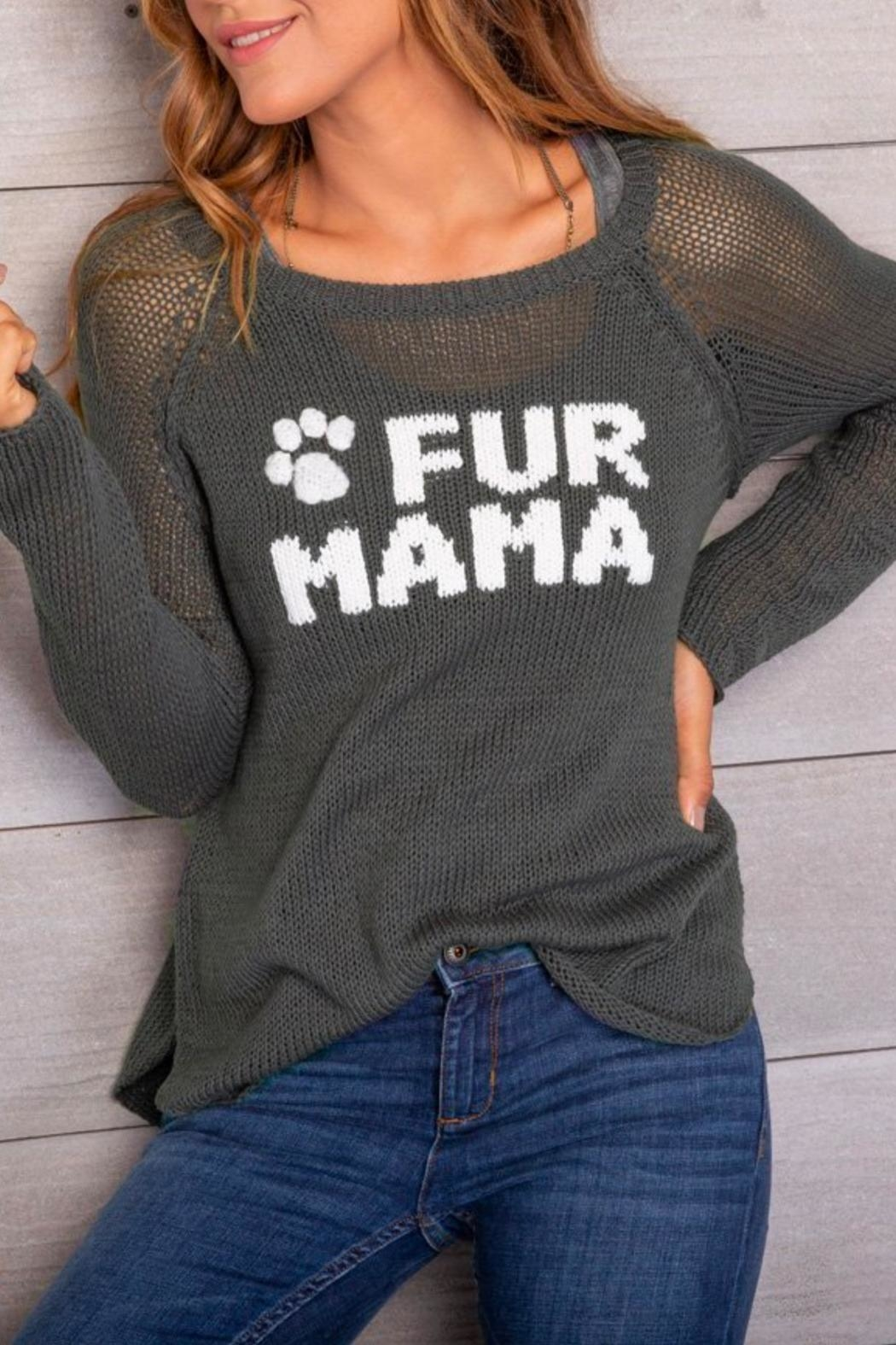 Wooden Ships Fur Mama Sweater - Front Full Image