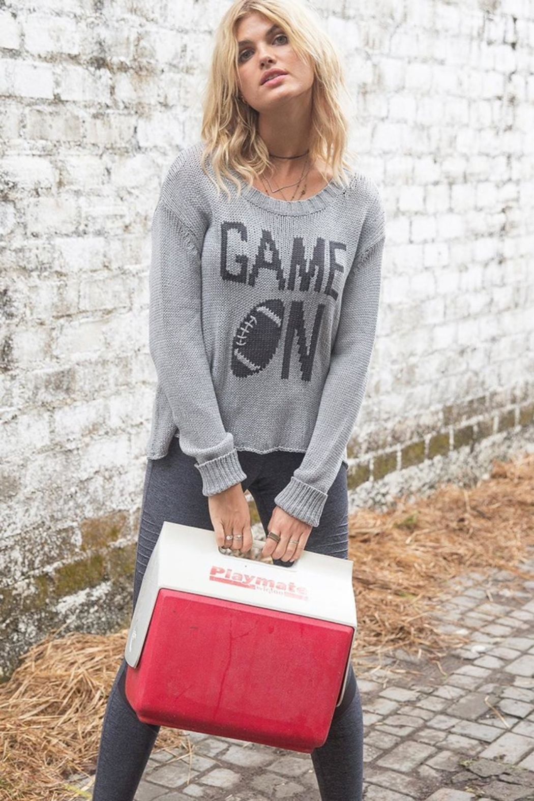 Wooden Ships Game On Sweater - Main Image