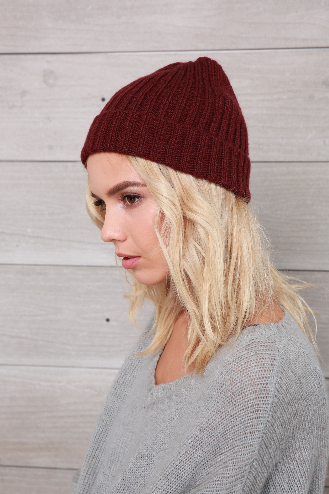 Wooden Ships Hamptons Rib Beanie - Side Cropped Image