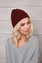 Wooden Ships Hamptons Rib Beanie - Front full body
