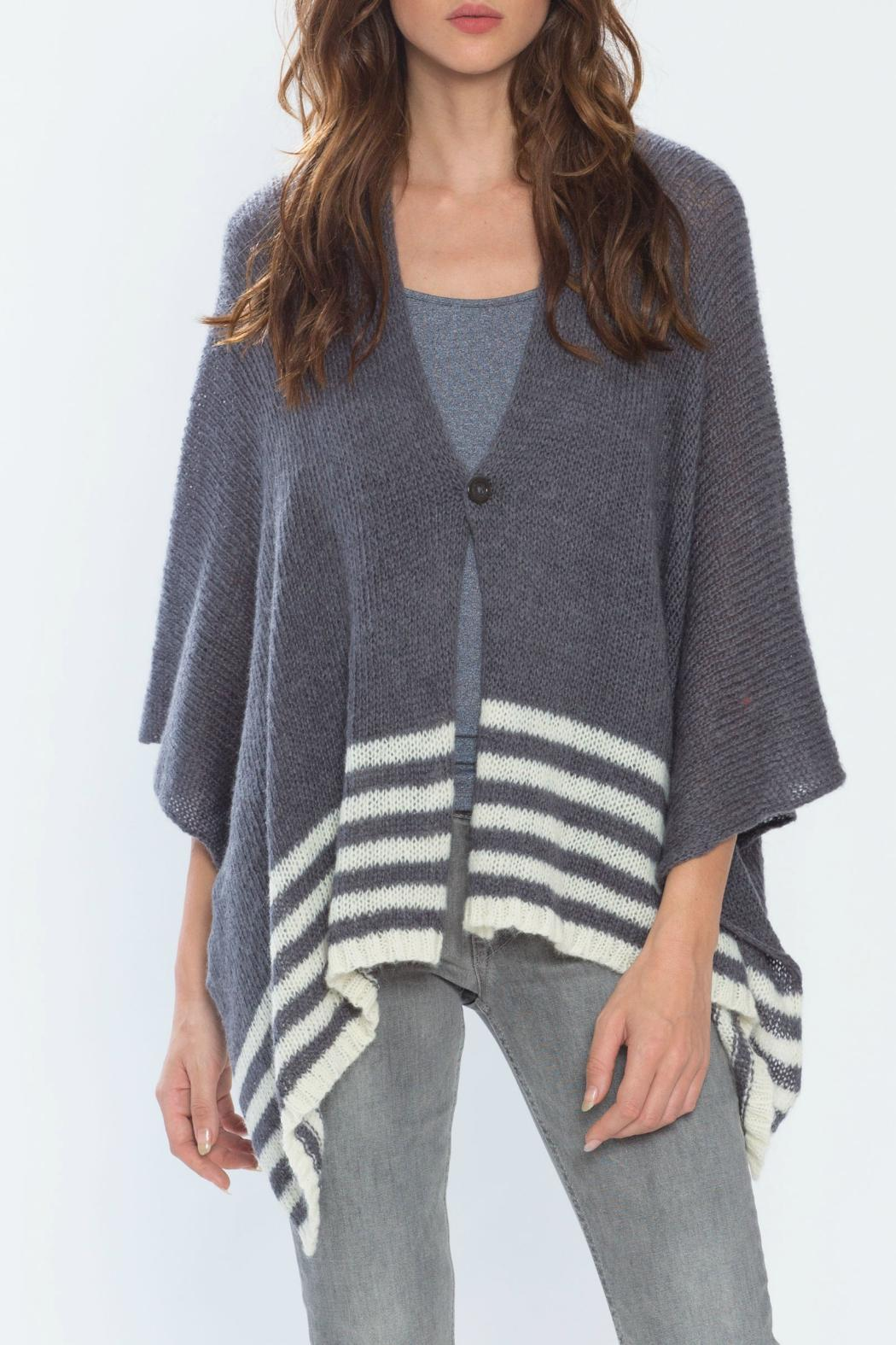 Wooden Ships Hand-Knit Button Poncho - Front Full Image