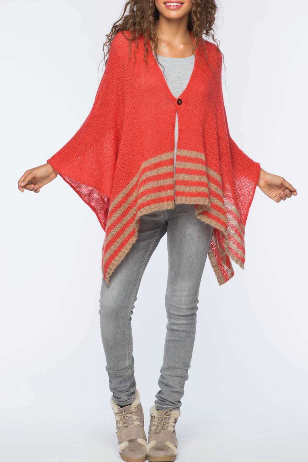 Wooden Ships Hand-Knit Button Poncho - Main Image