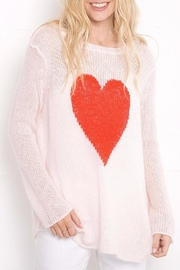 Wooden Ships Heart Crewneck Sweater - Product Mini Image