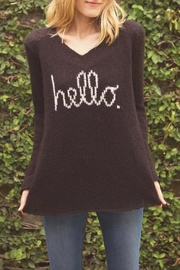 Wooden Ships Hello V Neck Sweater - Front cropped