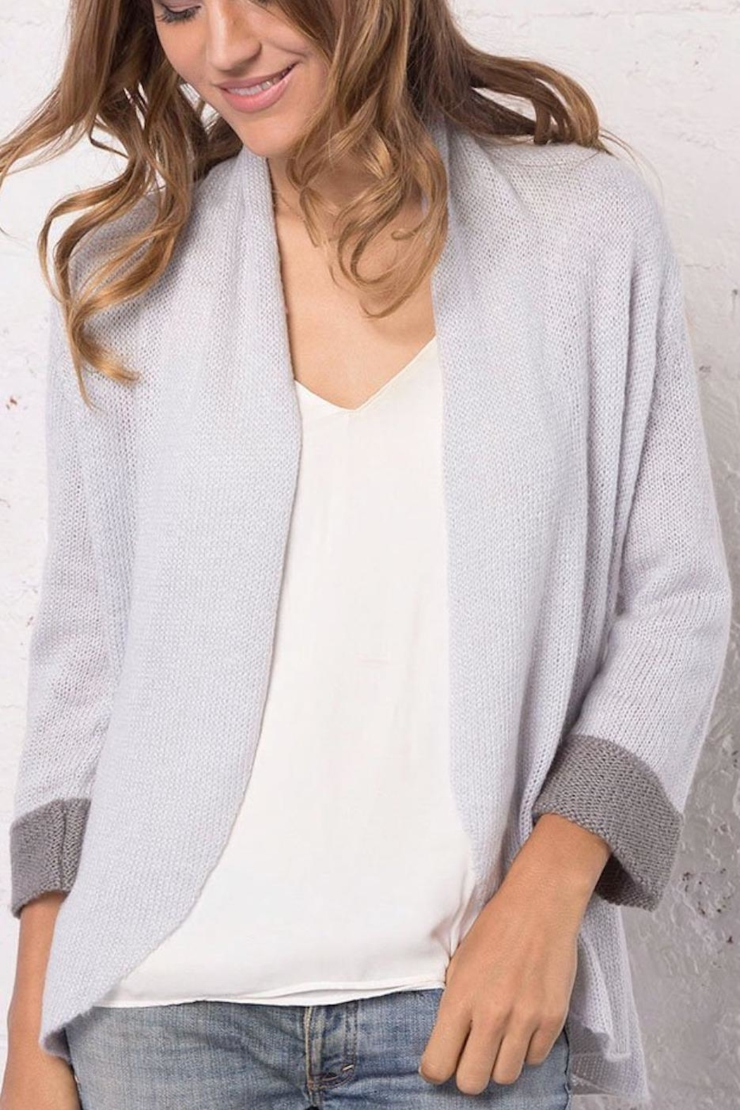 Wooden Ships Knit Cuffed Blazer - Front Full Image