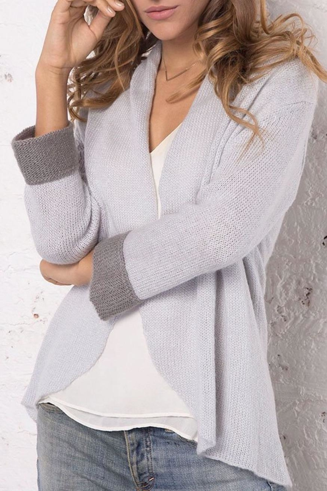 Wooden Ships Knit Cuffed Blazer - Side Cropped Image
