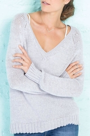 Wooden Ships Lexie Heathered Raglan - Front cropped