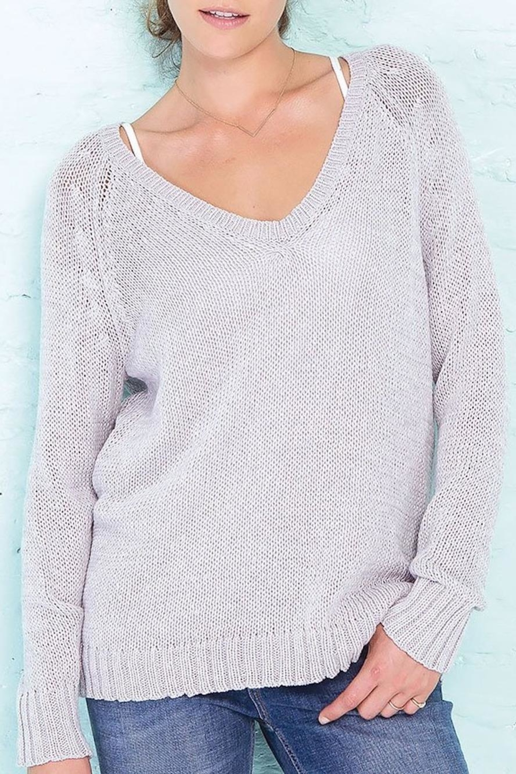 Wooden Ships Lexie Heathered Raglan - Front Full Image
