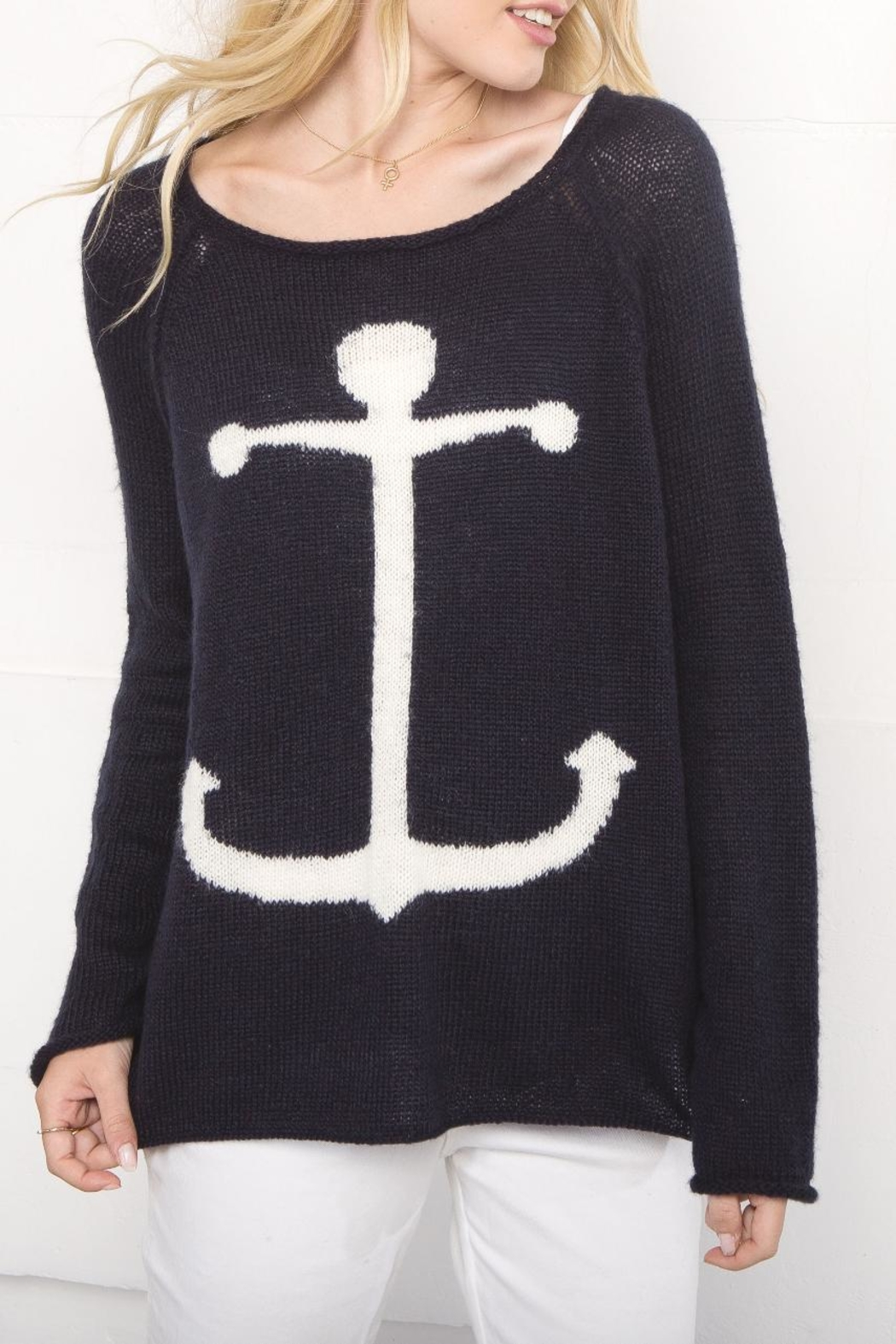 Wooden Ships Lightweight Anchor Sweater - Front Cropped Image