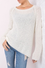 Wooden Ships Lightweight Chunky Crew Sweater - Front full body