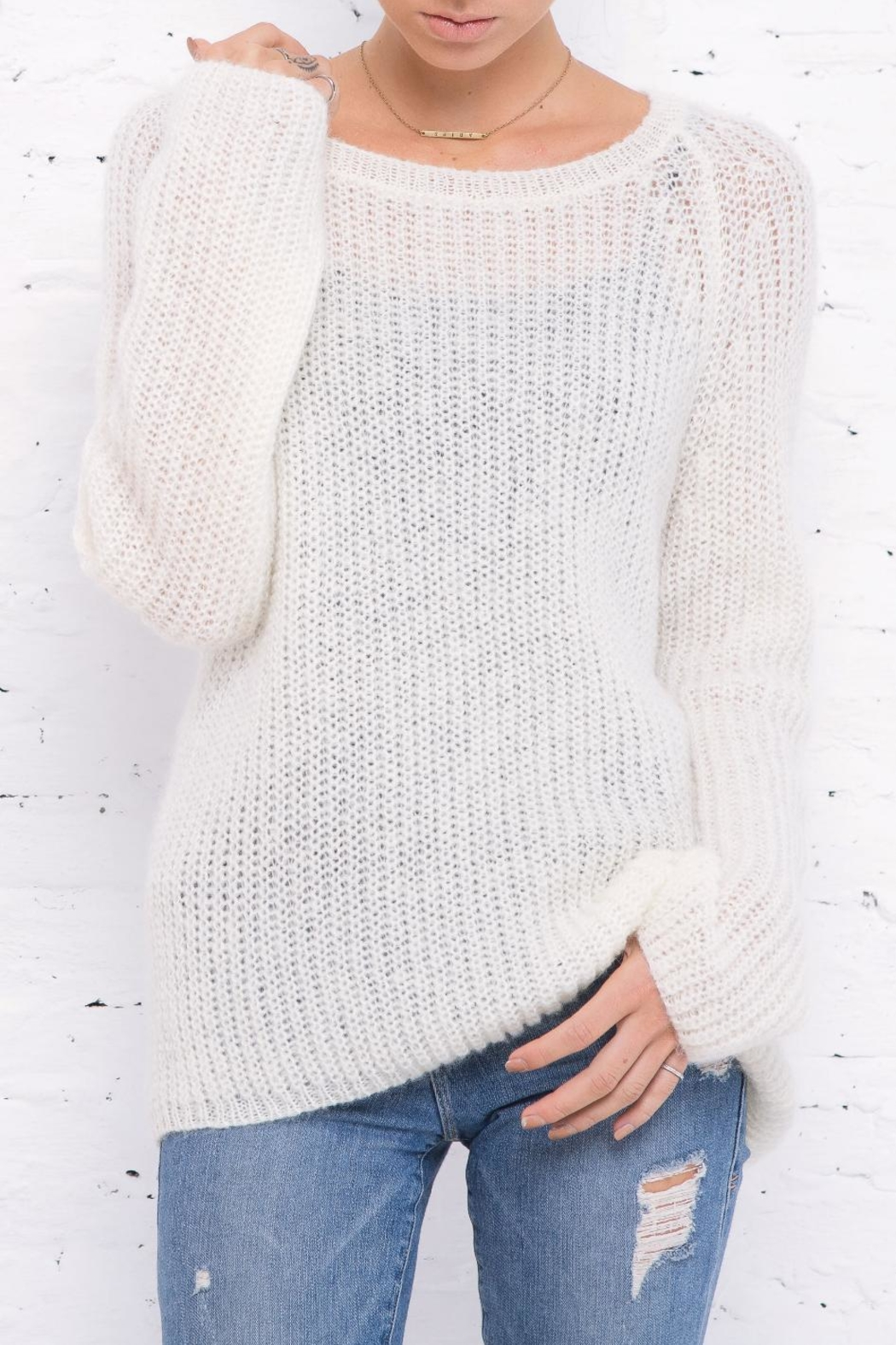 Wooden Ships Lightweight Chunky Crew Sweater - Main Image