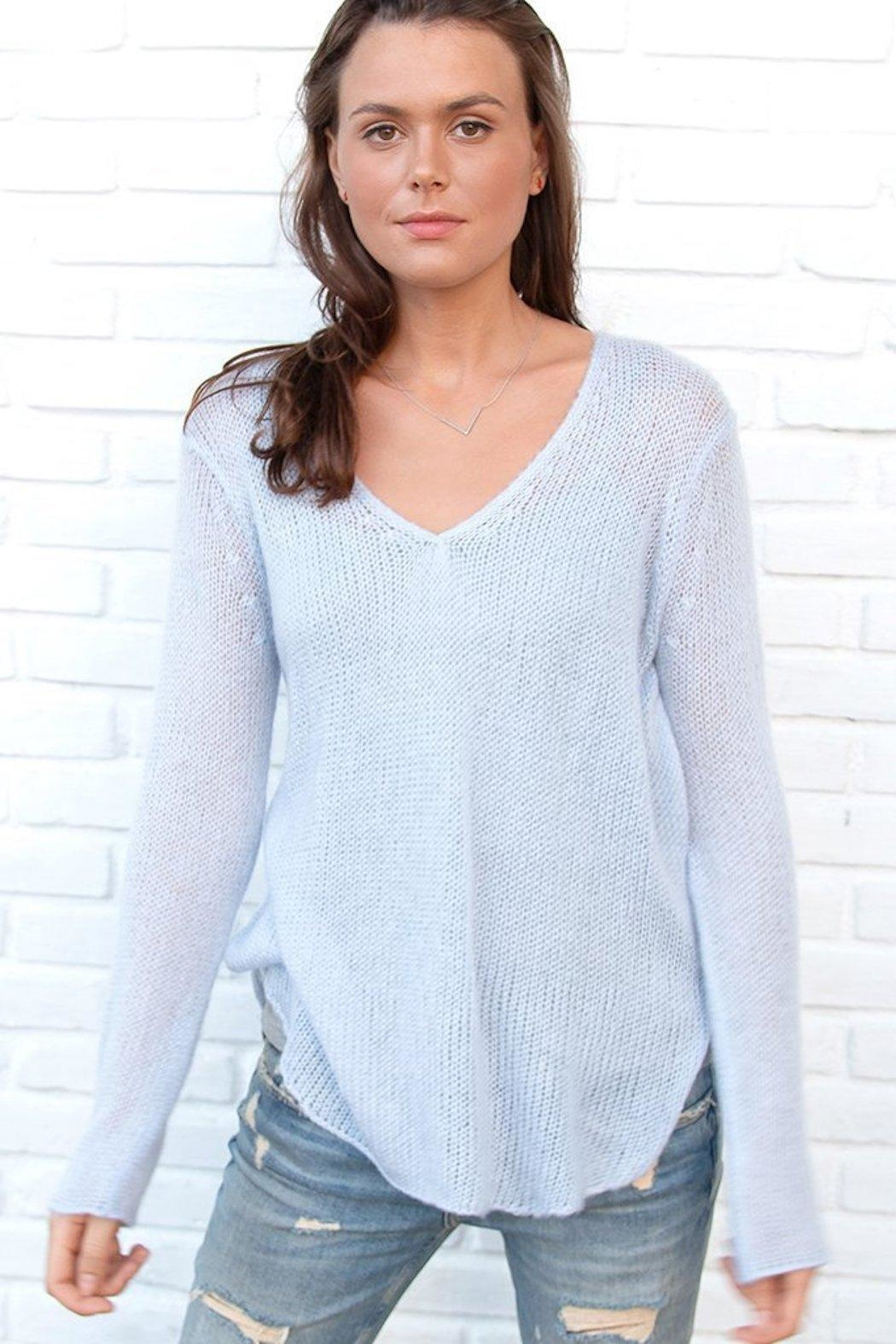 Wooden Ships Lightweight V-Neck Sweater - Main Image