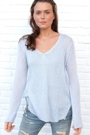 Wooden Ships Lightweight V-Neck Sweater - Front cropped