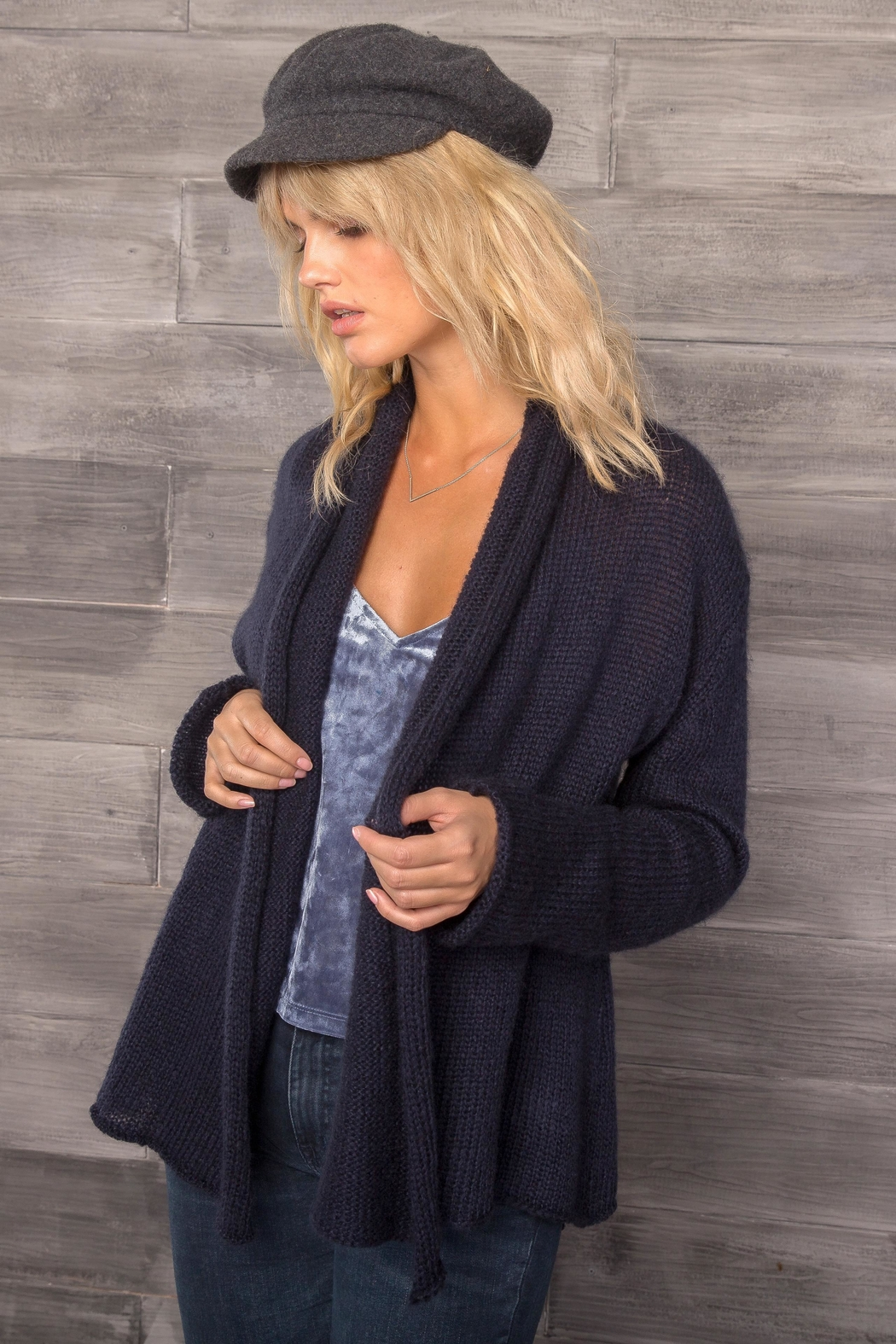 Wooden Ships Lightweight Wrap Cardigan - Front Full Image