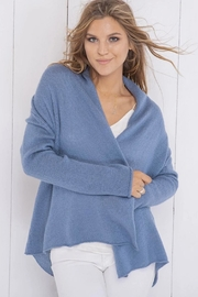 Wooden Ships Lightweight Wrap Sweater - Front cropped