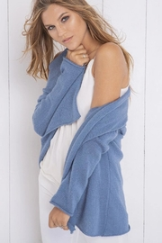 Wooden Ships Lightweight Wrap Sweater - Side cropped