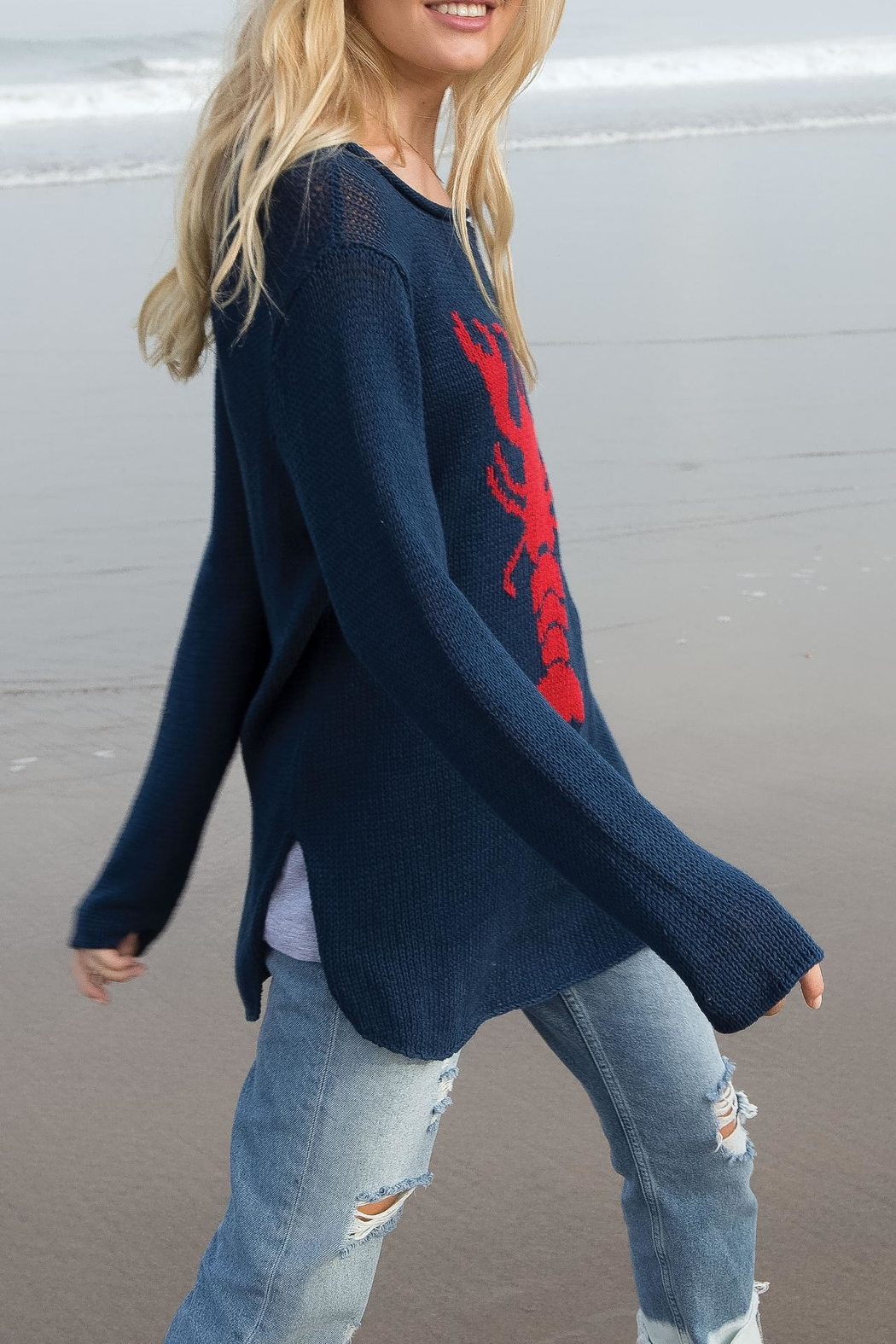 Wooden Ships Lobster Roll Sweater - Front Full Image