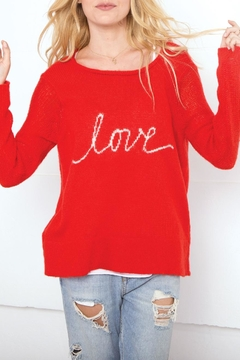 Wooden Ships Love Script Sweater - Product List Image