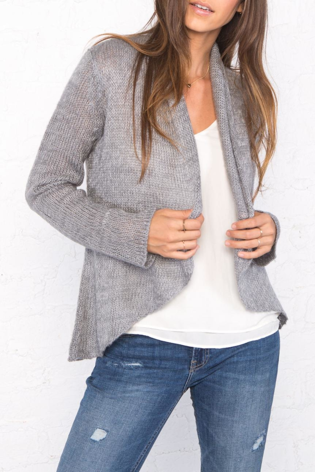 Wooden Ships Marled Cloud Wrap Cardigan - Front Full Image