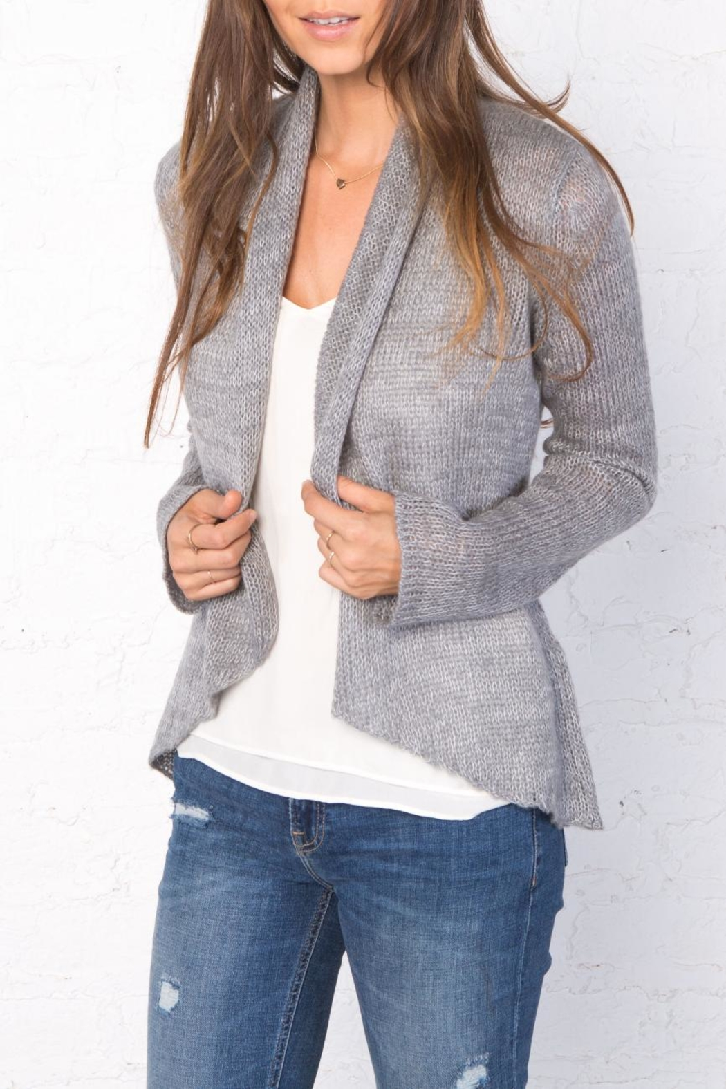 Wooden Ships Marled Cloud Wrap Cardigan - Main Image