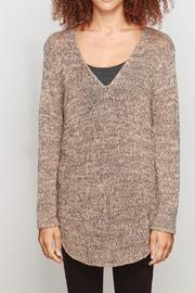 Wooden Ships Marled Shirttail Sweater - Product Mini Image