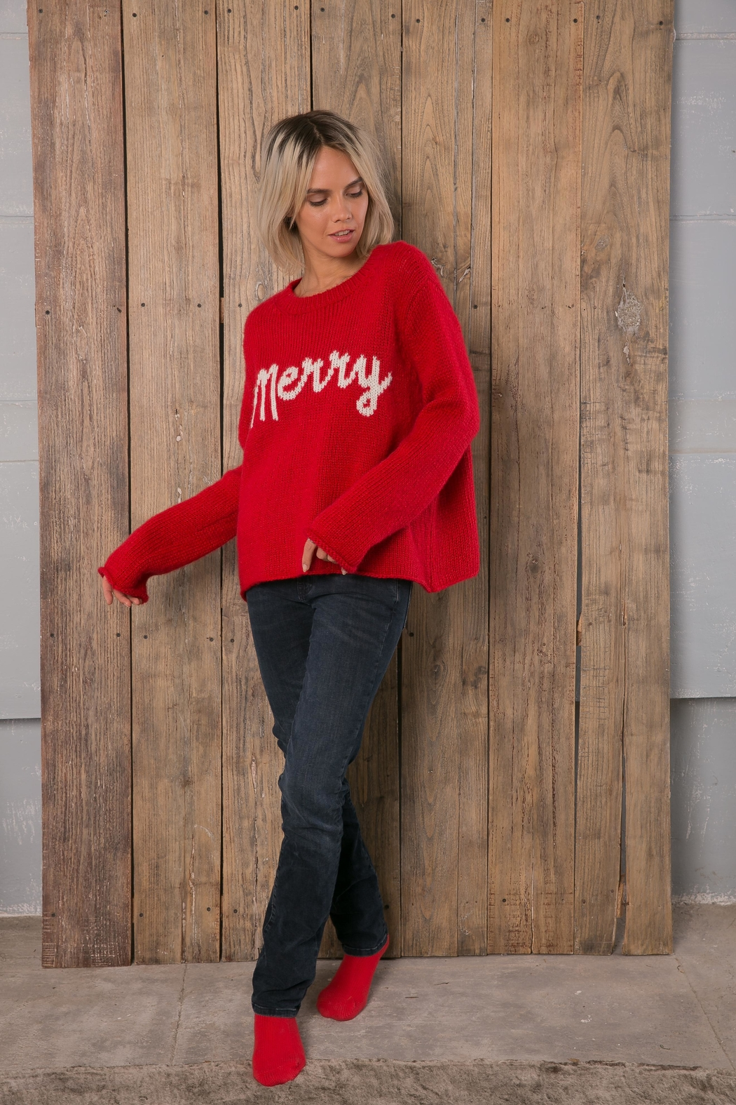 Wooden Ships Merry Sweater - Main Image