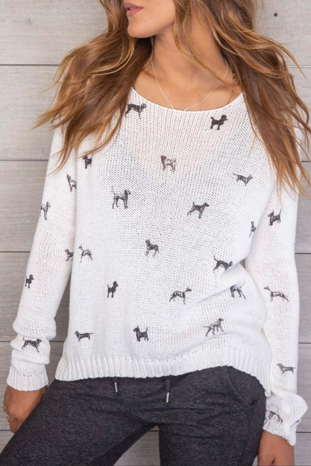 Wooden Ships Mini Dogs Pullover - Front Full Image