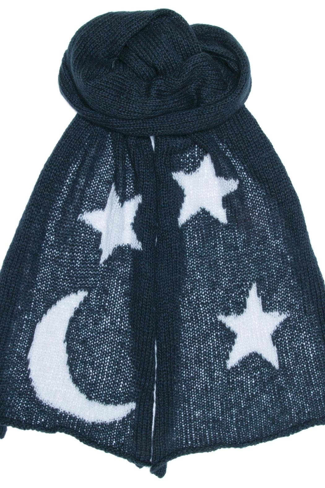 Wooden Ships Moon & Stars Scarf - Front Full Image