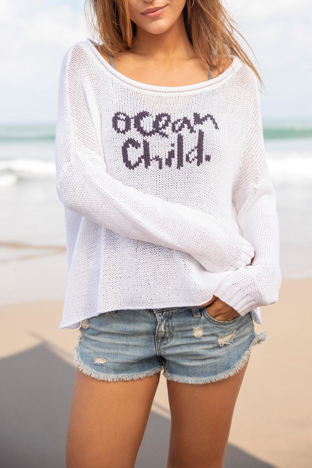 Wooden Ships Ocean Child Sweater - Main Image