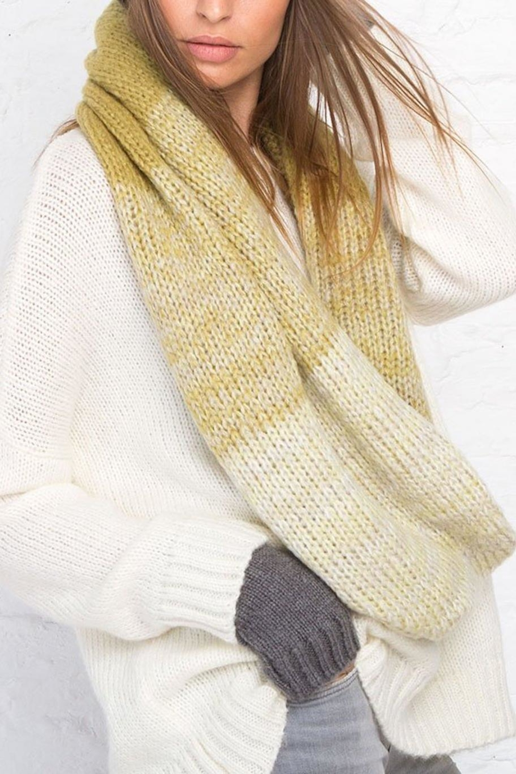 Wooden Ships Ombre Eternity Scarf - Back Cropped Image