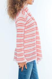 Wooden Ships Coral Stripe Cardigan - Front full body