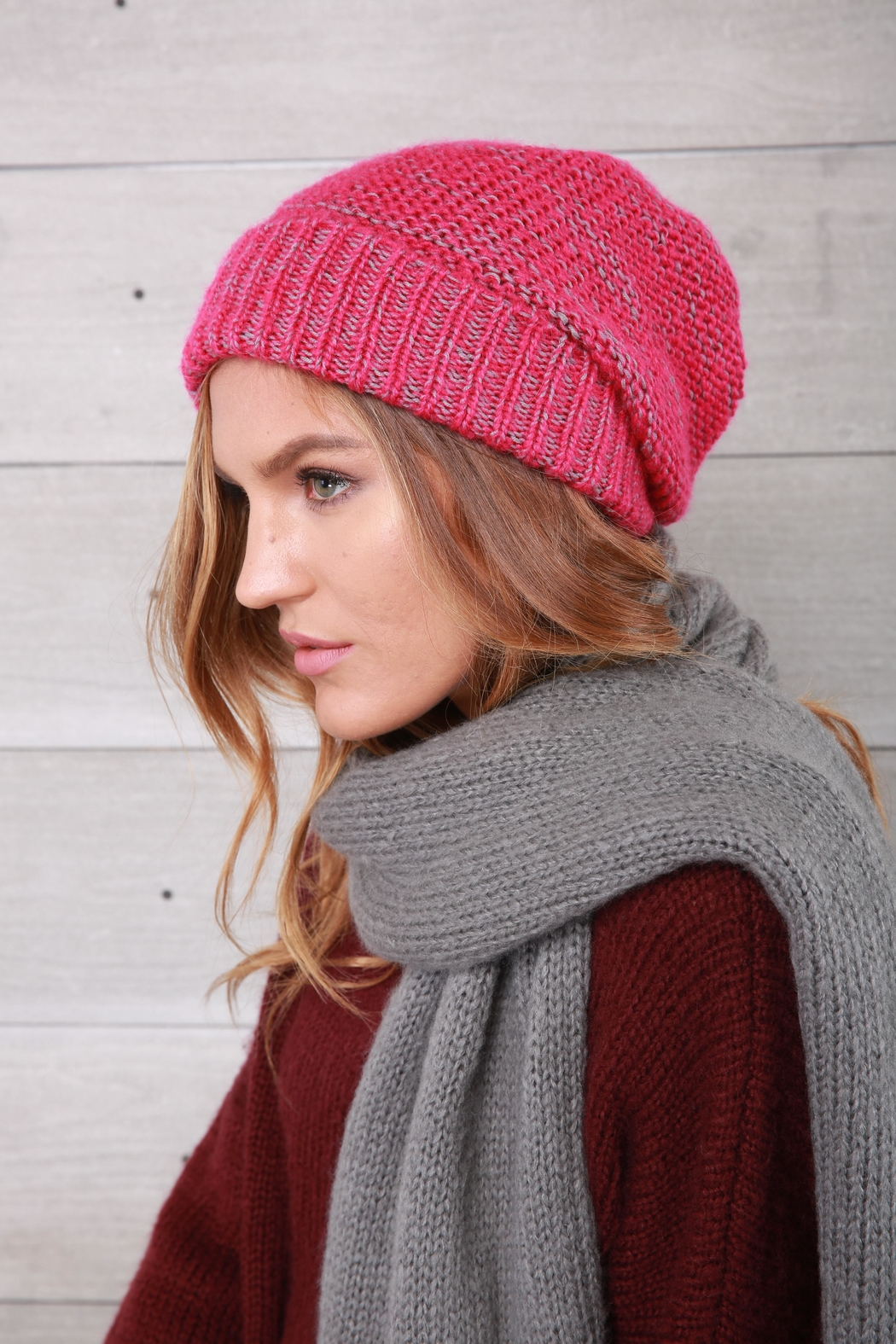 Wooden Ships Pink Rosemary Beanie - Front Full Image
