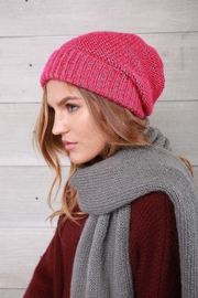 Wooden Ships Pink Rosemary Beanie - Front full body