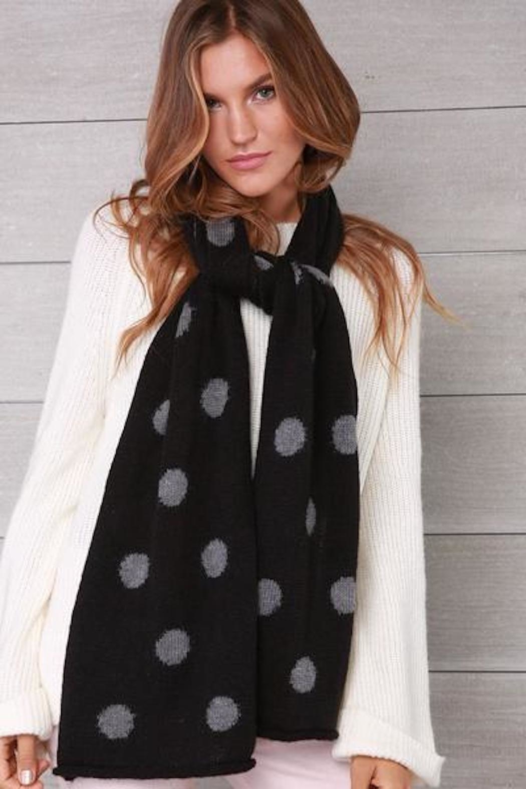 Wooden Ships Polka Dot Scarf - Front Cropped Image