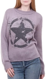 Wooden Ships Purple Star Sweater - Front cropped