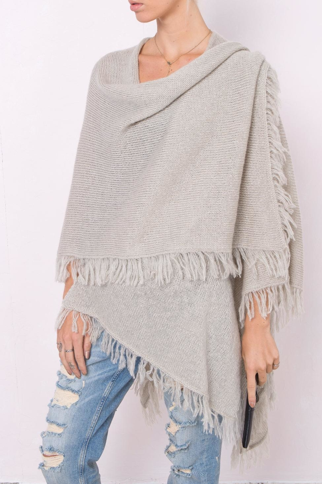 Wooden Ships Remi Fringe Serape - Front Cropped Image
